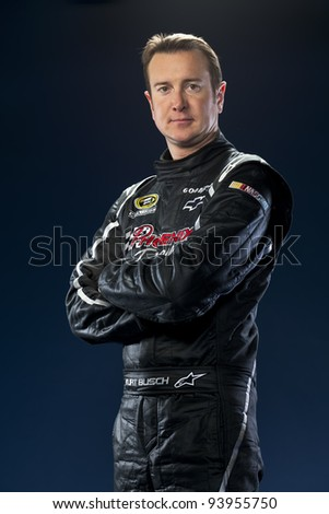 Spartanburg, SC - January 17:  NASCAR Champion, Kurt Busch, at the Phoenix Racing Complex in Spartanburg, SC on January 17, 2012.