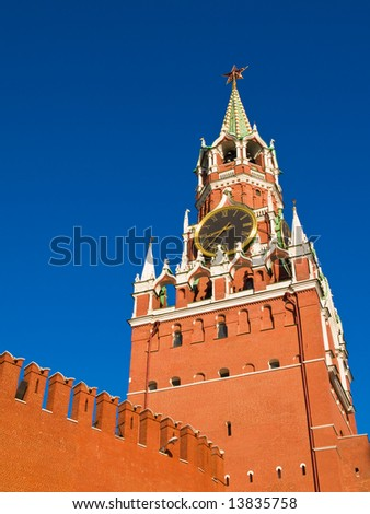 Spasskaya Tower, the famous tower of Moscow Kremlin