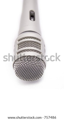 speak up (microphone) - stock photo
