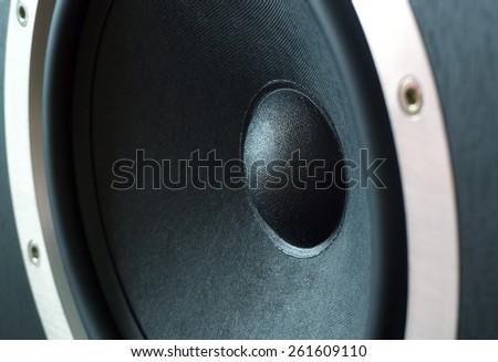 speaker close up. Element speaker system - stock photo