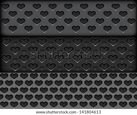 Speaker grill texture in the form of heart. Rasterized illustration. Vector version in my portfolio