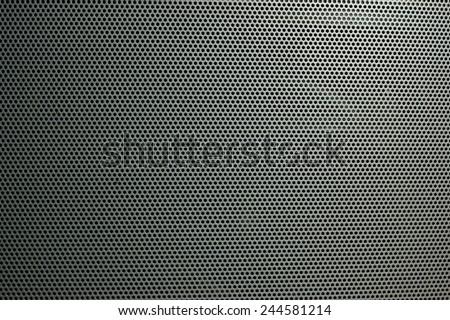 Speaker grille on the big theater speaker shot closeup - stock photo