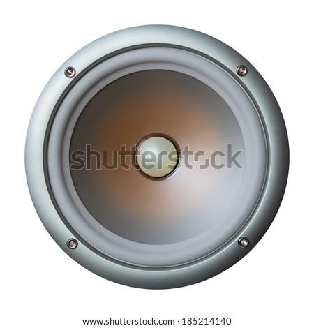 Speaker isolated on white background - stock photo