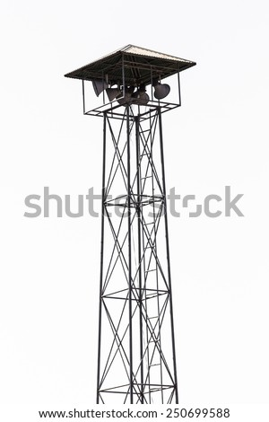 Speaker on high tower, Thailand asia Isolated - stock photo