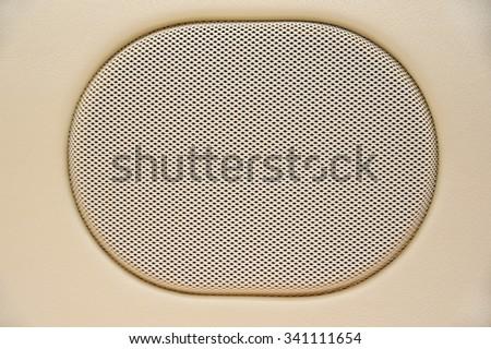 Speaker on the plane - stock photo