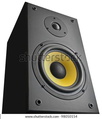 Speaker on white background - stock photo