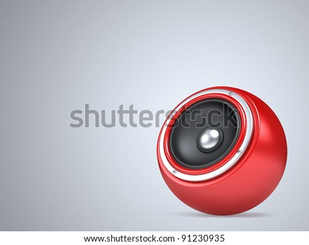Speakers as ball background - stock photo