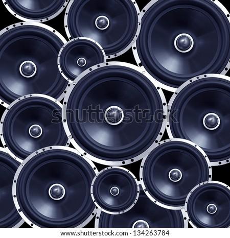Speakers background - stock photo