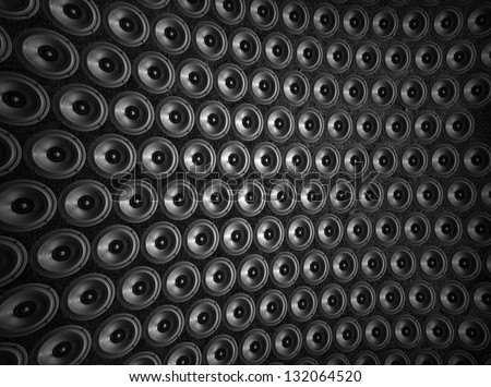 Speakers collage, useful image in a musical composition. - stock photo