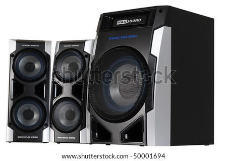 Speakers. Isolated - stock photo