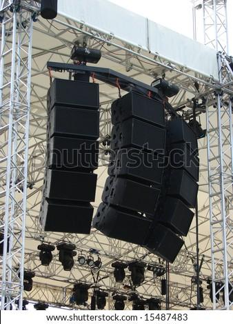 concert speaker stack vector. speakers, sound system for concert. concert speaker stack vector -