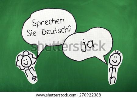 Speaking German Language - stock photo