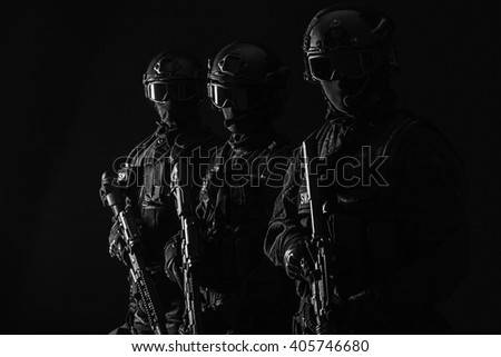 Spec ops police officersSWAT - stock photo