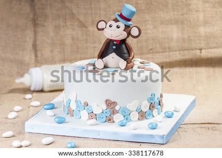 special birthday cake - stock photo
