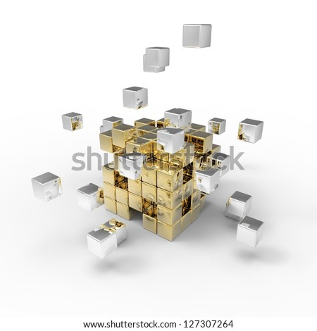 Special cubic 3d background