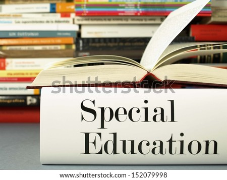 Special Education (book titles) - stock photo