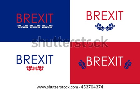 special floral brexit banners - stock photo