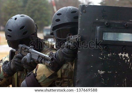 special force - stock photo