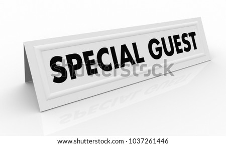 Special Guest Name Tent Card Words 3d Illustration  sc 1 st  Shutterstock & Special Guest Name Tent Card Words Stock Illustration 1037261446 ...
