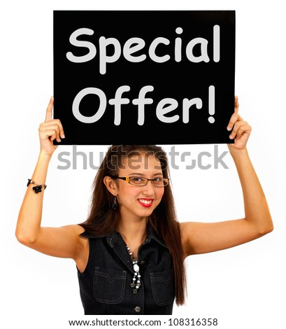 Special Offer Board Shows Discount Bargain Products - stock photo