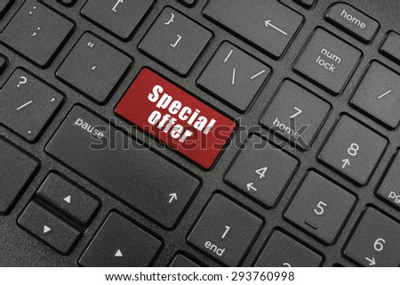 Special offer button on laptop keyboard
