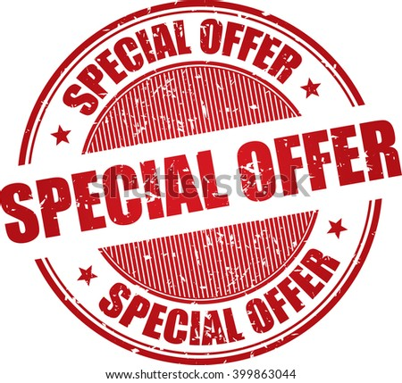 Special offer grunge stamp. - stock photo
