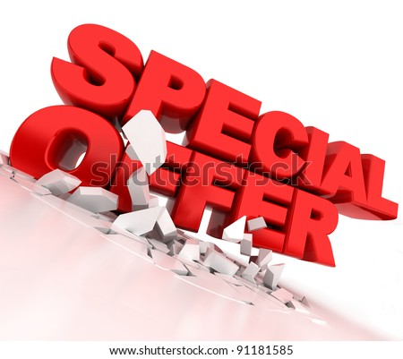 special offer in 3d - stock photo