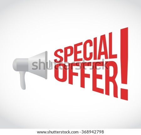 special offer message concept sign illustration design - stock photo
