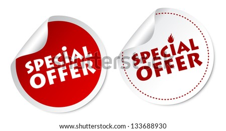 Special offer stickers - stock photo