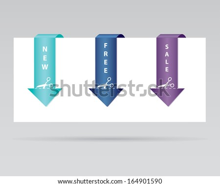 special paper tag - stock photo