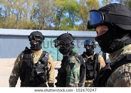 special police commandos are training terrorists detained