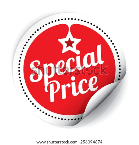 Special Price Sticker and Tag - Red
