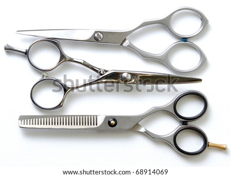 Special scissors for work of hairdresser