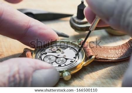 Special tools for repair of clocks  - stock photo