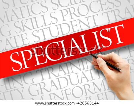 SPECIALIST word cloud, education business concept - stock photo