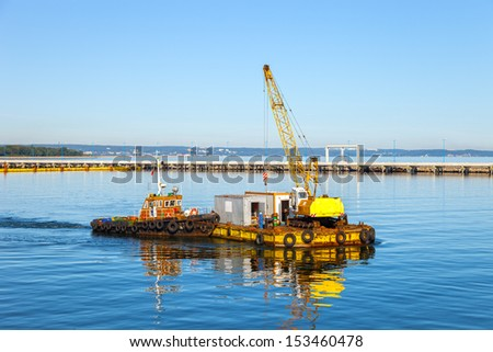 Specialized equipment for water works engineering. - stock photo