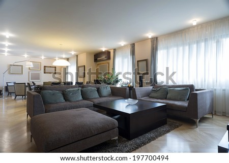 Specious bright living room