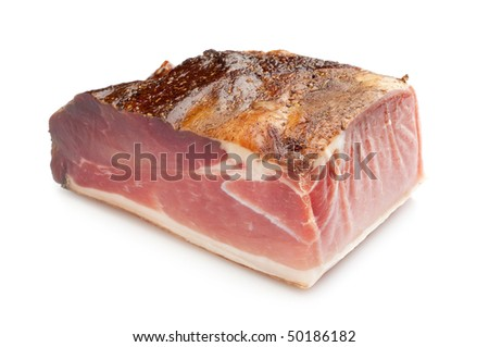 speck typical tyrol product - stock photo