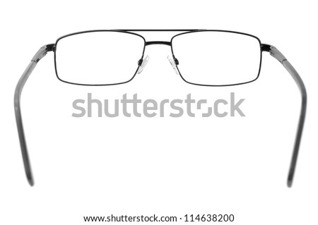 spectacles isolated on a white background - stock photo