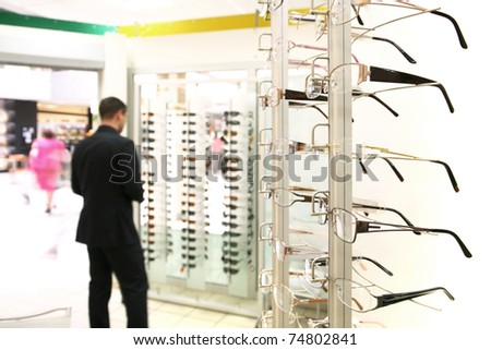 Spectacles store - stock photo