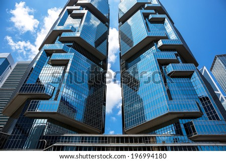 Spectacular architecture in Hong Kong - stock photo