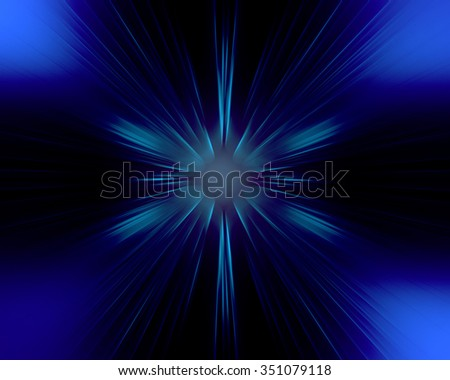 Spectacular blurry glow. Rays shining star. Fantastic background for creative graphic design. - stock photo