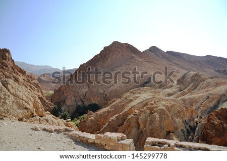 Spectacular Canyon Mides - Tunisia, Africa - stock photo