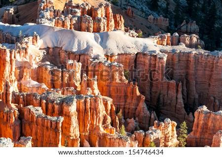 spectacular Hoodoo rock spires of Bryce Canyon, Utah, USA - stock photo