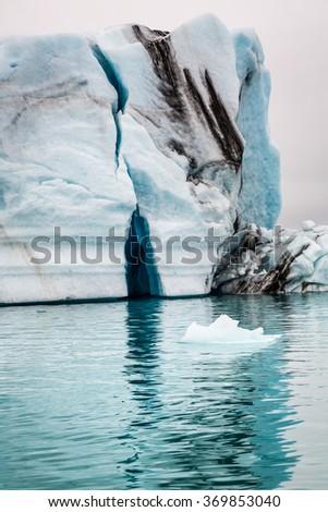 Spectacular icebergs floating on the lake, Iceland - stock photo