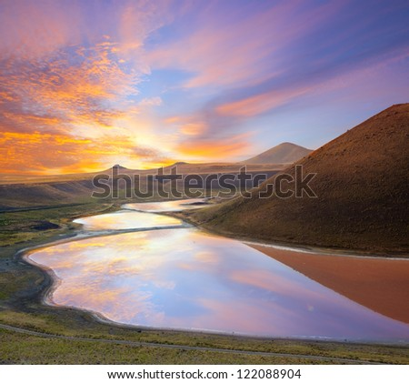 Spectacular Meke crater lake in Turkey - stock photo