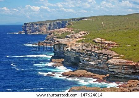 Spectacular Rugged Coastline, Sydney, NSW Australia - stock photo
