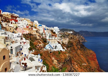 spectacular view of Santorini