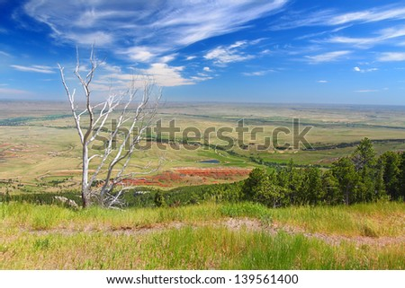 Spectacular Wyoming countryside seen from the Bighorn National Forest - stock photo