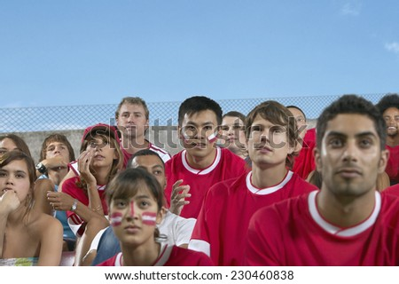 Spectators Watching a Sporting Event - stock photo